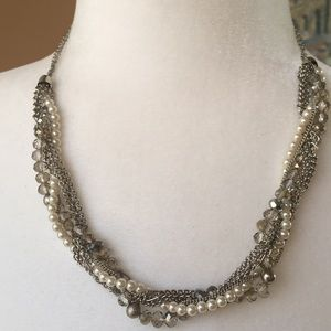 Glittery Twisted chain @ Bead Necklace